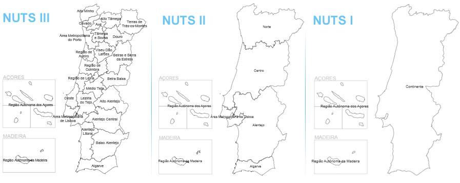 mapa nuts iii portugal PORDATA   What are NUTS? mapa nuts iii portugal